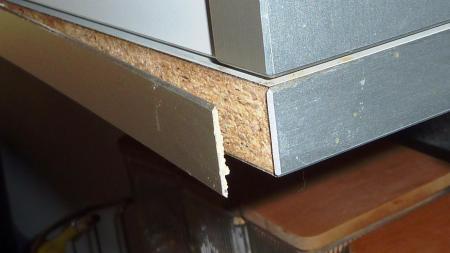Aluminium Zierleiste Mit Stirnseiten Von Spanplatten Kleben Alle