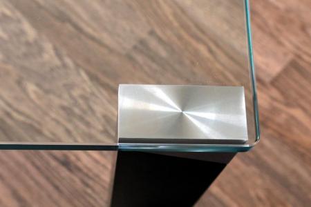 Turbo Glas mit Aluminium kleben - Bein-Alu an Glasplatte - wasklebtwas.de AX01