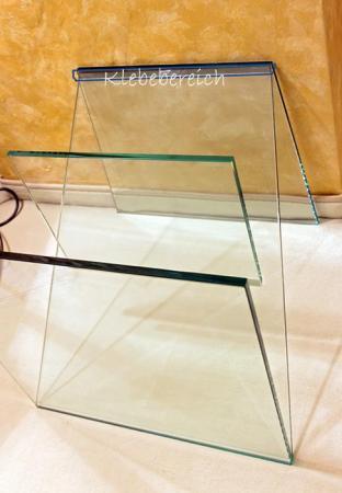 glas mit glas kleben glasbeistelltisch ca 30 x 30 cm z f rmig. Black Bedroom Furniture Sets. Home Design Ideas