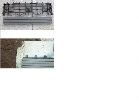 Wpc fliesen mit pvc und beton kleben gartenterrasse mit - Fliesen auf beton kleben ...