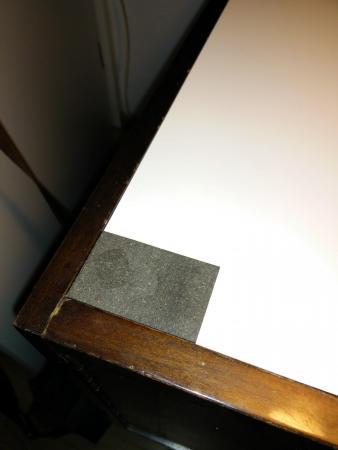 pvc hartschaum mit lederfaserstoff kleben schreibtischunterlage. Black Bedroom Furniture Sets. Home Design Ideas